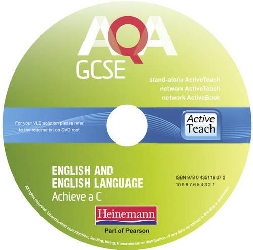 AQA GCSE English and English Language Active Teach: Aim for a C - AQA GCSE English, Language, & Literature (CD-ROM)