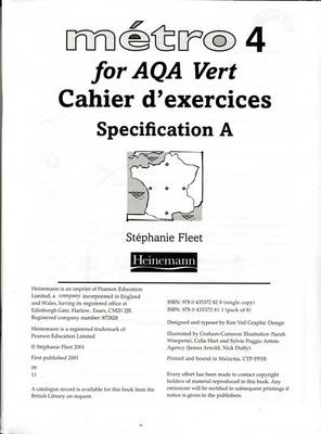 Metro 4 for AQA Foundation Workbook for Specification A (Pack of 8) - Metro 4 for AQA (Paperback)