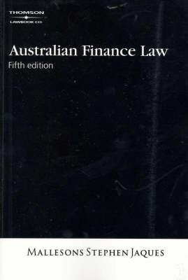 Australian Finance Law (Paperback)