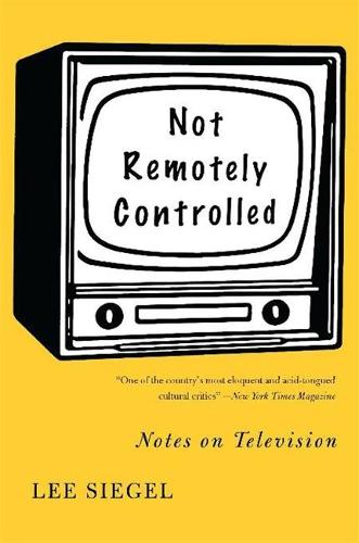 Not Remotely Controlled: Notes on Television (Paperback)