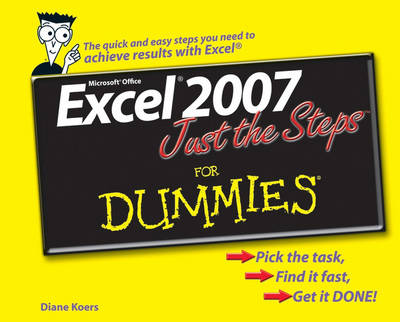 Excel 2007 Just the Steps For Dummies (Paperback)