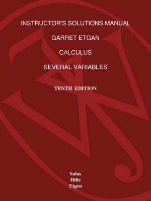 Calculus: Instructor's Solutions Manual: One and Several Variables (Paperback)