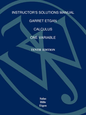 Calculus: Instructor's Solutions Manual: One Variable (Paperback)