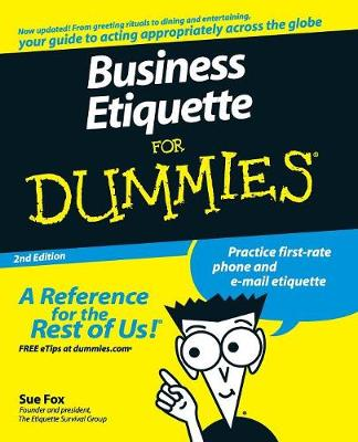 Business Etiquette For Dummies (Paperback)