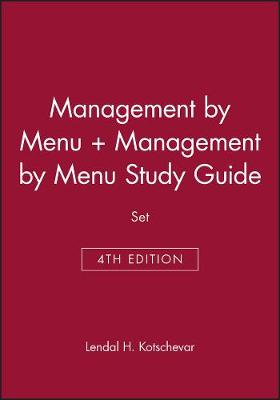 Management By Menu 4E + Management By Menu Study Guide (Hardback)