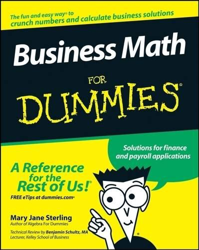 Business Math For Dummies (Paperback)