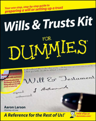 Wills and Trusts Kit For Dummies (Paperback)