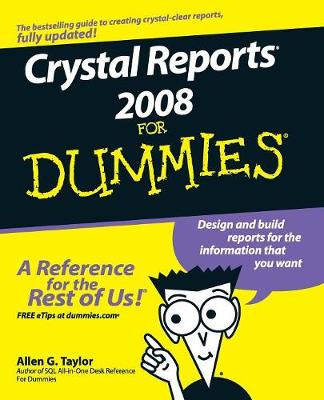 Crystal Reports 2008 for Dummies (Paperback)