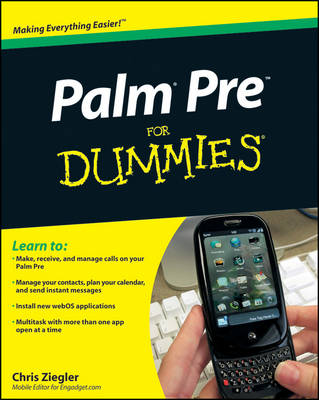 Palm Pre For Dummies (Paperback)