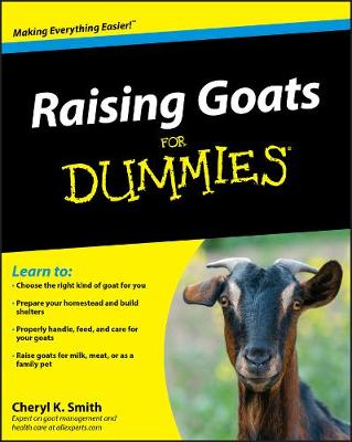 Raising Goats For Dummies (Paperback)