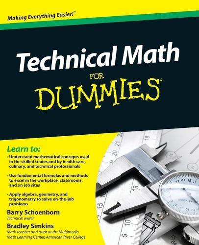 Technical Math For Dummies (Paperback)