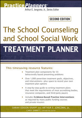 The School Counseling and School Social Work Treatment Planner - PracticePlanners (Paperback)