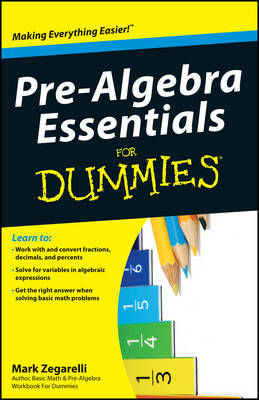 Pre-Algebra Essentials For Dummies (Paperback)