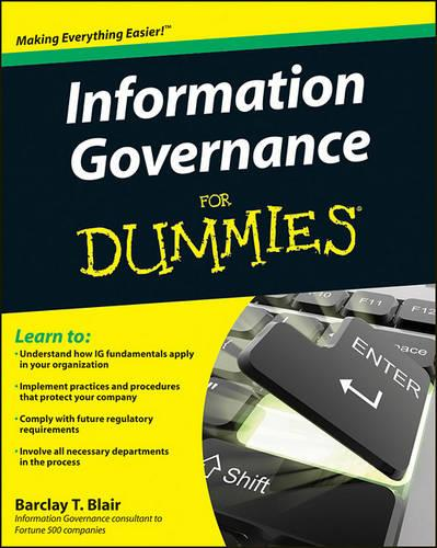Information Governance For Dummies (Paperback)
