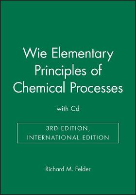 Elementary Principles of Chemical Processes (Paperback)