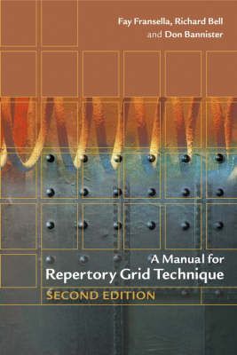 A Manual for Repertory Grid Technique (Paperback)