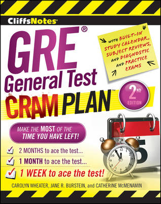 CliffsNotes GRE General Test Cram Plan: 2nd Edition (Paperback)
