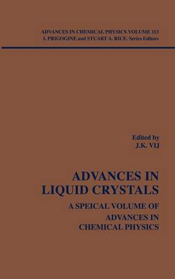 Advances in Liquid Crystals: A Special Volume - Advances in Chemical Physics (Hardback)