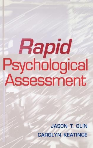 Rapid Psychological Assessment (Hardback)