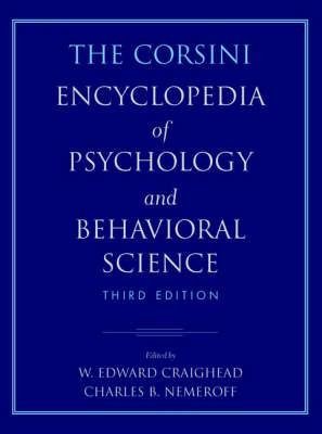 The Corsini Encyclopedia of Psychology and Behavioral Science, 4 Volume Set (Paperback)