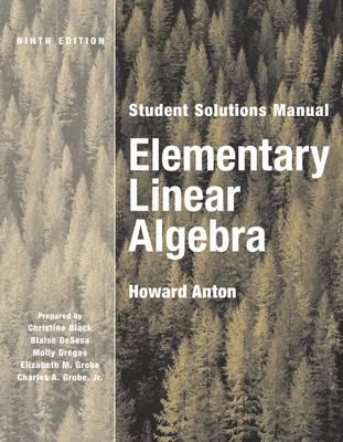 Elementary Linear Algebra: Student Solutions Manual (Paperback)