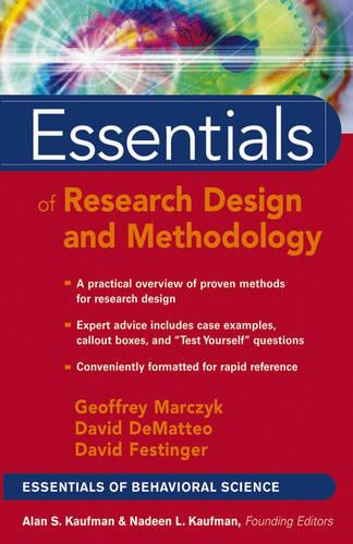 Essentials of Research Design and Methodology - Essentials of Behavioral Science (Paperback)