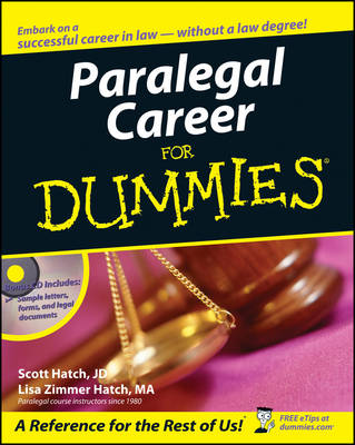 Paralegal Career For Dummies (Paperback)