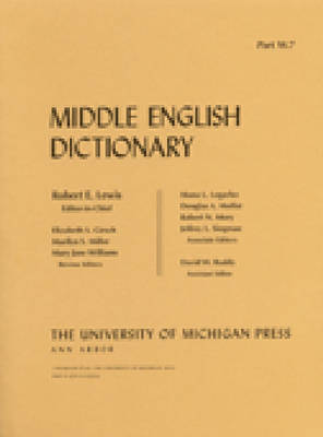 Middle English Dictionary: W.7 - Middle English Dictionary (Paperback)