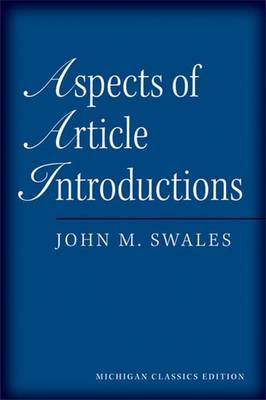 Aspects of Article Introductions (Paperback)