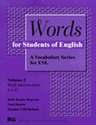 Words for Students of English: A Vocabulary Series for ESL - Pitt Series in English as a Second Language v. 1 (Paperback)
