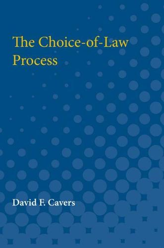 The Choice-of-Law Process (Paperback)