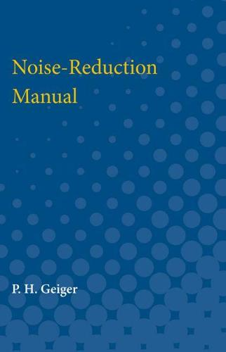Noise-Reduction Manual (Paperback)