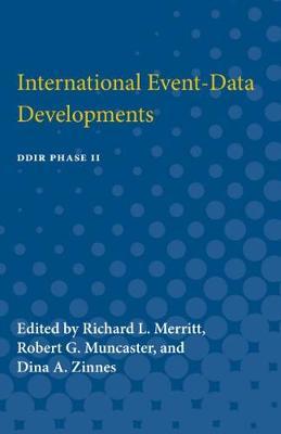 International Event-Data Developments: DDIR Phase II (Paperback)