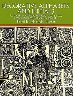 Decorative Alphabets and Initials - Lettering, Calligraphy, Typography (Paperback)