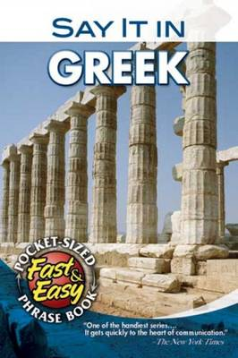Say it in Greek - Dover Language Guides Say it Series (Paperback)