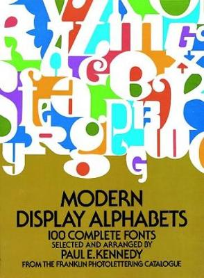 Modern Display Alphabets - Dover Books on Lettering, Graphic Arts & Printing (Paperback)