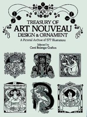 Treasury of Art Nouveau Design & Ornament - Dover Pictorial Archive (Paperback)