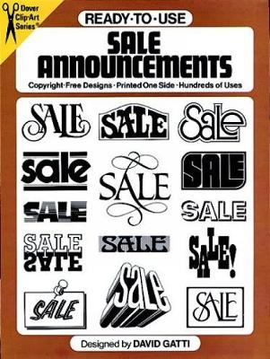 Ready-to-Use Sale Announcements - Dover Clip Art Ready-to-Use (Paperback)