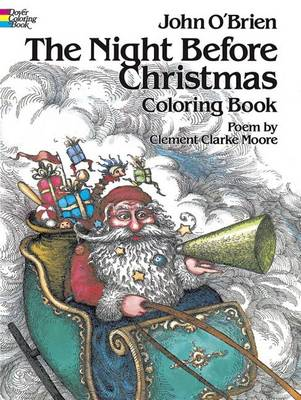 The Night Before Christmas - Dover Holiday Coloring Book (Paperback)