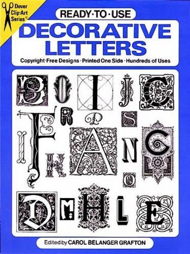 Ready-to-Use Decorative Letters - Dover Clip Art Ready-to-Use