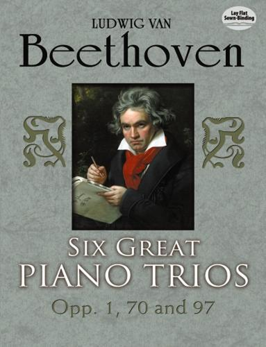 Six Great Piano Trios in Full Score: Beethoven: Beethoven: Beethoven (Paperback)