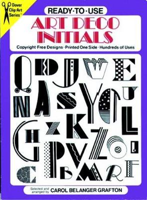 Ready-to-Use Art Deco Initials - Dover Clip Art Ready-to-Use