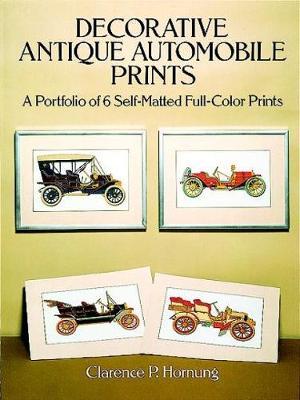 Decorative Antique Automobile Prints: A Portfolio of 6 Self-Matted Full-Colour Prints (Paperback)