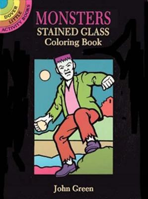 Monsters Stained Glass Colouring Book - Dover Stained Glass Coloring Book (Paperback)