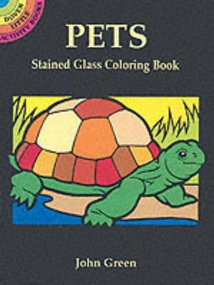Pets Stained Glass Coloring Book - Dover Stained Glass Coloring Book (Paperback)