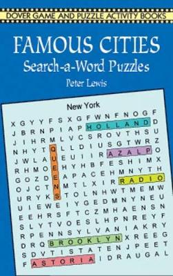 Famous Cities Search-a-Word Puzzles - Dover Children's Activity Books (Paperback)