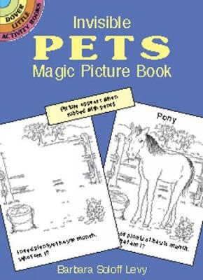 Invisible Pets Magic Picture Book - Dover Little Activity Books (Paperback)