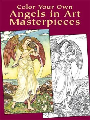 Color Your Own Angels in Art Master - Dover Art Coloring Book