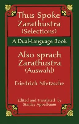 Thus Sprach Zarathustra / Also Spra - Dover Dual Language German (Paperback)
