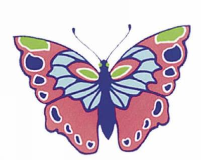 Shiny Butterfly Stickers - Dover Stickers (Paperback)